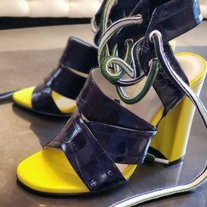MSGM Shoes - MSGM color block Spring sandal